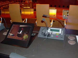 Simultaneous Interpretation Station (Televic Conference) at the European Court of Justice